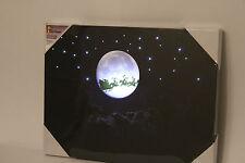 Navidad luces de LED luz de Santa Escena De La Luna Decoración de Navidad de lona Imagen W Temporizador