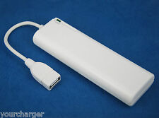 USB AA Battery Extender Emergency Portable Backup Charger WHITE 4 iPhone 6 Plus