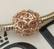 GENUINE PANDORA ROSE GOLD OPEN YOUR HEART CHARM 780964