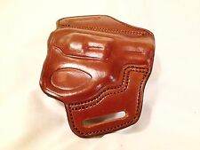 Handmade Brown Leather Gun Holster Ruger LCR OWB Outside Waist Band Made in USA