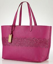 NWT RALPH LAUREN Chantilly Large Tote Bag with Wallet/Clutch - Hibiscus
