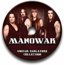 MANOWAR HEAVY METAL ROCK GITARRE ETIKETTEN TABLATURE LIED BUCH SOFTWARE CD