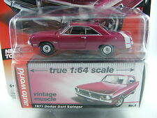 Dodge Dart Swinger 1971 in magenta von Auto World in 1/64, Sammlermodell!!