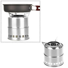 Portable Outdoor Camping Stainless Steel Lightweight Stove Wood Alcohol Burning