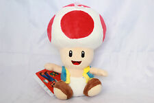 "Official NEW Red Toad Mushroom Plush 7"" Nintendo Super Mario Bros Stuffed Toy"