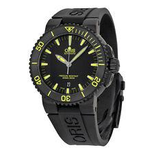 Oris Aquis Date Automatic Black Dial Black Rubber Mens Watch 733-7653-4722RS