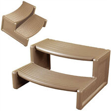 Confer Plastics Resin Multi Purpose Spa Hot Tub Handi-Step RV Steps, Tan | HS2-T