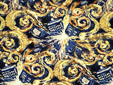 DOCTOR WHO FABRIC  EXPLODING TARDIS  100% COTTON FABRIC SPRINGS CREATIVE YARDAGE