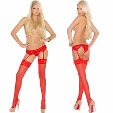 Plus Size Lingerie One Size Queen Lace Garter Belt and Thong EM1218Q