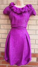 FLORENCE FRED COUTURE PAGODA PURPLE BUBBLE CATWALK PARTY PROM WRINKLE DRESS 14 L