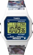 BRAND NEW TIMEX T2N379 INDIGLO DIGITAL 80'S CLASSIC SILICONE STRAP MEN'S WATCH