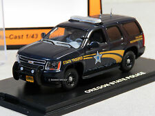 MTH 1:43 DIE-CAST CHEVY TAHOE POLICE CAR OREGON STATE POLICE 30-50096 UNCAT
