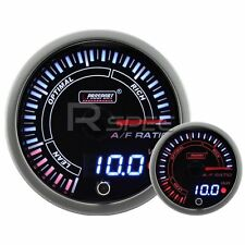 JDM 60mm Smoked Style Air Fuel Ratio AFR Dual Stepper Motor Gauge with warning