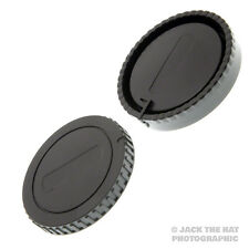 Sony A-Mount Body Cap & Rear Lens Cap Set. Fits all Sony Alpha DSLR & SLT