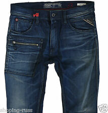 NEW REPLAY TAFFAN W-33 L-32 SLIM SKINNY JEANS   Made in Italy