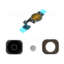 !! REPLACEMENT IPHONE 5C INNER BLACK HOME MENU BUTTON FLEX WITH RUBBER + CONTACT