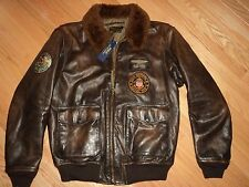 +++NWT $1395 Polo Ralph Lauren Lambs Shearling Colar Leather Jacket sz L+++