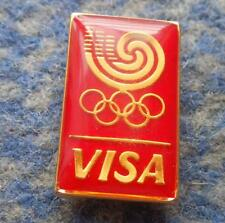 OLYMPIC SEOUL 1988 VISA SPONSOR PIN BADGE