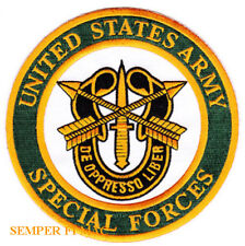 """SPECIAL FORCES PATCH 4 3/4"""" US ARMY GREEN BERETS VETERAN FORT BRAGG PIN UP RECON"""