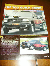 2001 FORD LIGHTNING MUSCLE TRUCK 10 SECOND 1/4 MILE ***ORIGINAL 2004 ARTICLE***