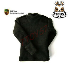 ACI Toys 1/6 Military Sweater_ Black Round Neck _ AT003A