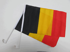 BELGIUM LION CAR WINDOW FLAG - 2 PACK NEW