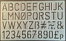 30 mm ALPHABET & NUMBER STENCILS - 42 UPPER CASE LETTERS NUMBERS STENCIL -P/1600