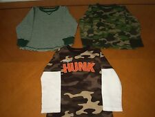 Lot of 3 Baby Boys Toddlers Long Sleeve Shirts Camouflage Old Navy Carter's 4T