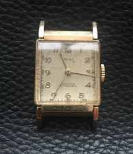 Wyler Incaflex Gold Curvex Rectangular Gents Wristwatch 1940's Just Seviced