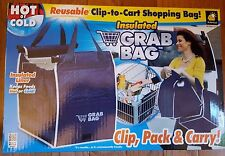 New Insulated Grab Bag Pack-N-Tote Reusable Eco Grocery Cart Shopping Bag ASOTV