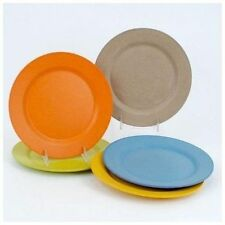 NEW Set of 5 ONE HUNDRED 80 Bamboo Composite Salad Plates  Assorted Colors 8""