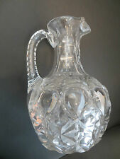 Crystal Glass Cut Ornate Vintage JUG Water or Milk - Sparkling Decorative Item