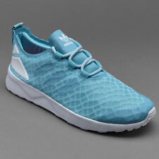 SUPER !!! ADIDAS women ZX FLUX VERVE -sky blue , size UK 5 / 6
