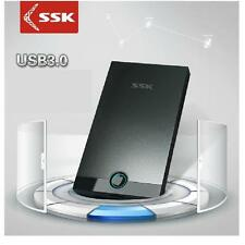 "SSK SHE085 Portable USB 3.0 2.5"" SATA HDD SDD Mini Hard Drive External Enclosure"