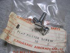 KAWASAKI NOS RARE AIR CLEANER / EXHAUST CLAMP SCREWS W1 W2 SS TT    210E0625
