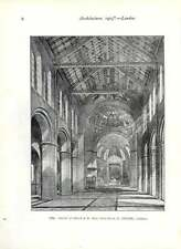 1903 Interior Of The Church Of St Paul In Woodgreen E Goldie Architect
