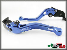 Strada 7 Short Adjustable CNC Levers Moto Guzzi V9 Bobber / Roamer 2016 Blue
