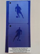2 x footballer face painting stencil reusable Ireland Irish Euros 2016 player