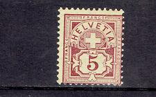 Schweiz **  MiNr 52Ya Ziffernmuster und Kreuz