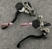 Universal Motorcycle Brake Clutch Lever Master Cylinder Kit Reservoir