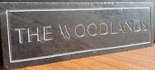 Deep Engraved Slate sign plaque House Names  address number personalised