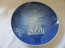Bing & Grondahl blue white Olympic Games plate Seoul 1988