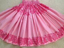 "PRETTY PINK HAWAIIAN HULA DANCE PAU PA'U SKIRT  25.5"" LONG"