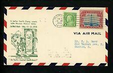 US Postal History National Airmail Week Marlin TX 5/16/1938 Mineral Water Health