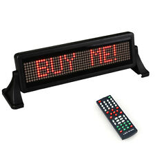 MINI 12V CAR SCROLLING DISPLAY LED SIGN LIGHT REMOTE CONTROL MOVING MESSAGE RED