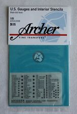 Archer 1/35 US Vehicle Instruments and Interior Stencils (Black) AR35209B