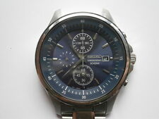 Gents wristwatch SEIKO CHRONOGRAPH 100 M quartz watch working need service 7T92A
