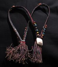 Fine Tuareg Necklace - Anadara Shell, Old Agate and Glass Beads - Mauritania
