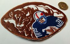 "Buffalo Bills CLASSIC vintage embroidered iron on  patch 4."" x 2.5"" RARE NICE"