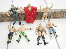 WWE WWF WCW 7 Wrestling Figures Lot 1  figure with clothes included